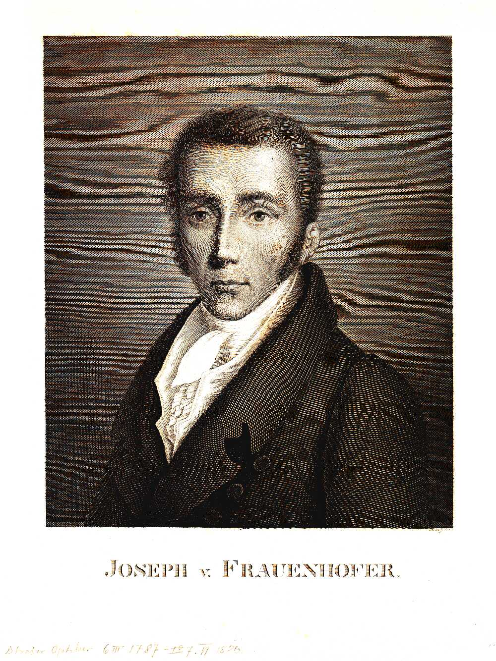 Portrait of Joseph von Fraunhofer,  Image number:SIL14-F005-07a
