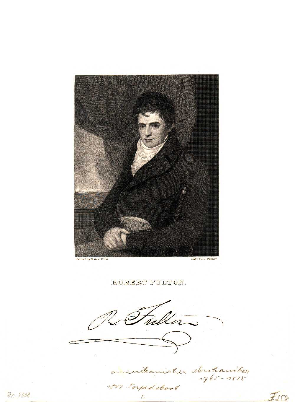 Portrait of Robert Fulton,  Image number:SIL14-F006-03a