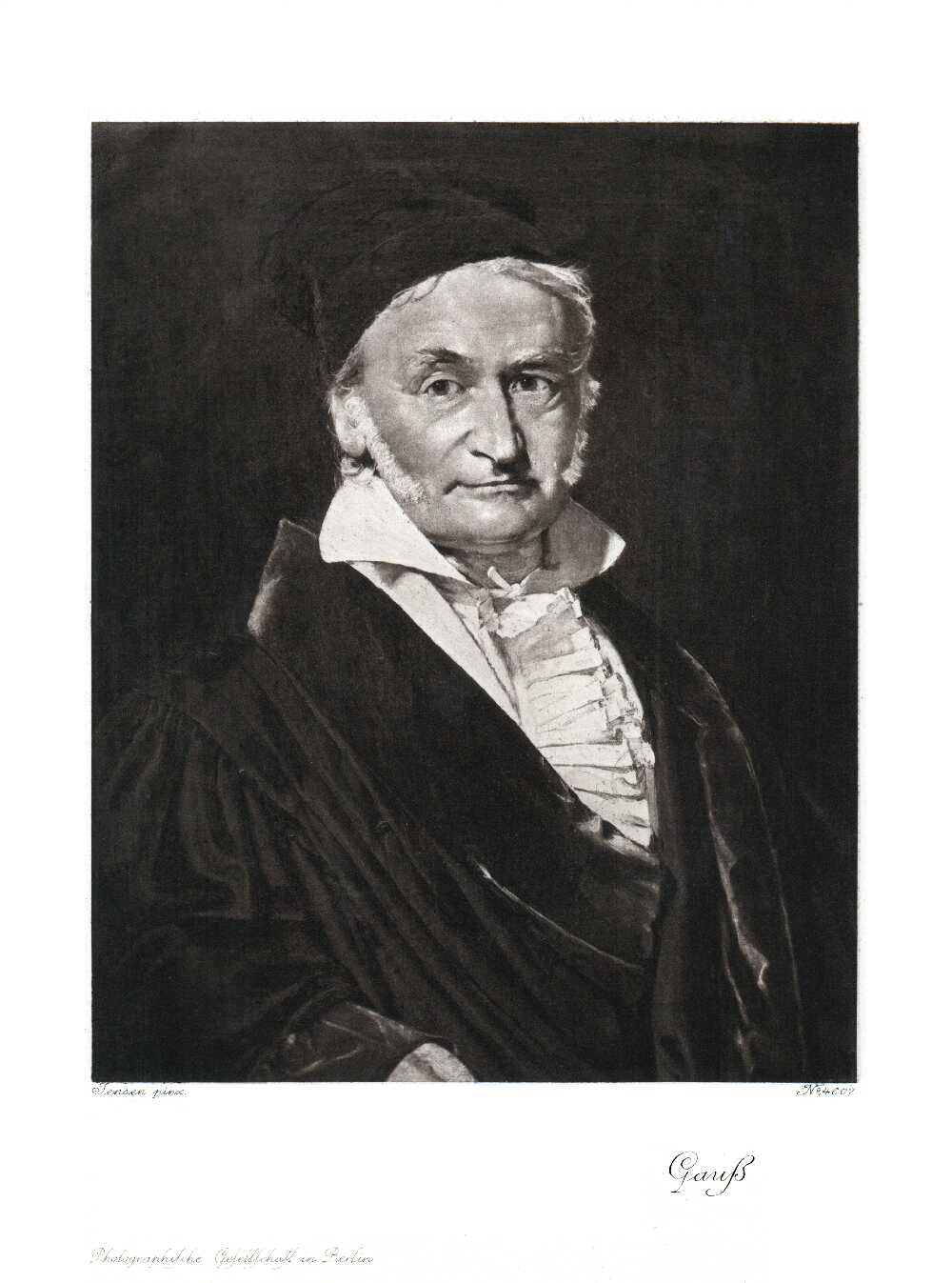 Portrait of Carl Friedrich Gauss,  Image number:SIL14-G001-08a