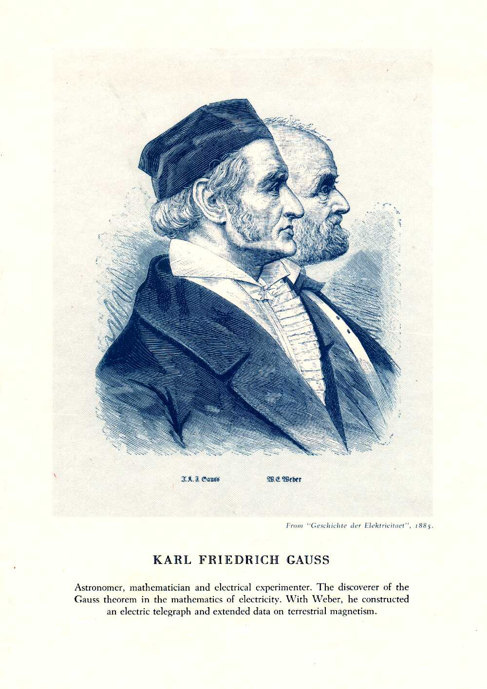 Portrait of Carl Friedrich Gauss,  Image number:SIL14-G001-09a