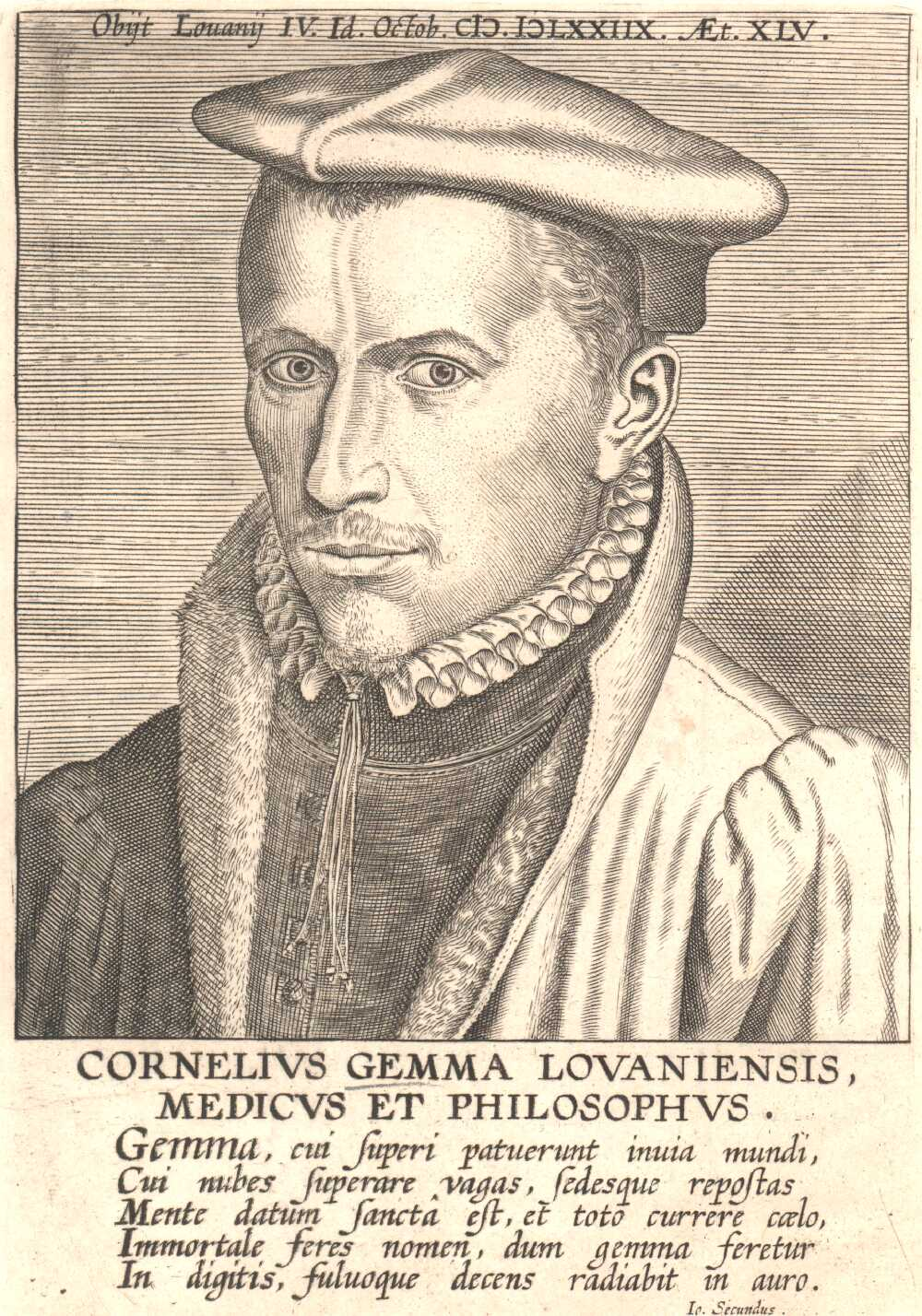 Portrait of Cornelius Gemma,  Image number:SIL14-G002-06a