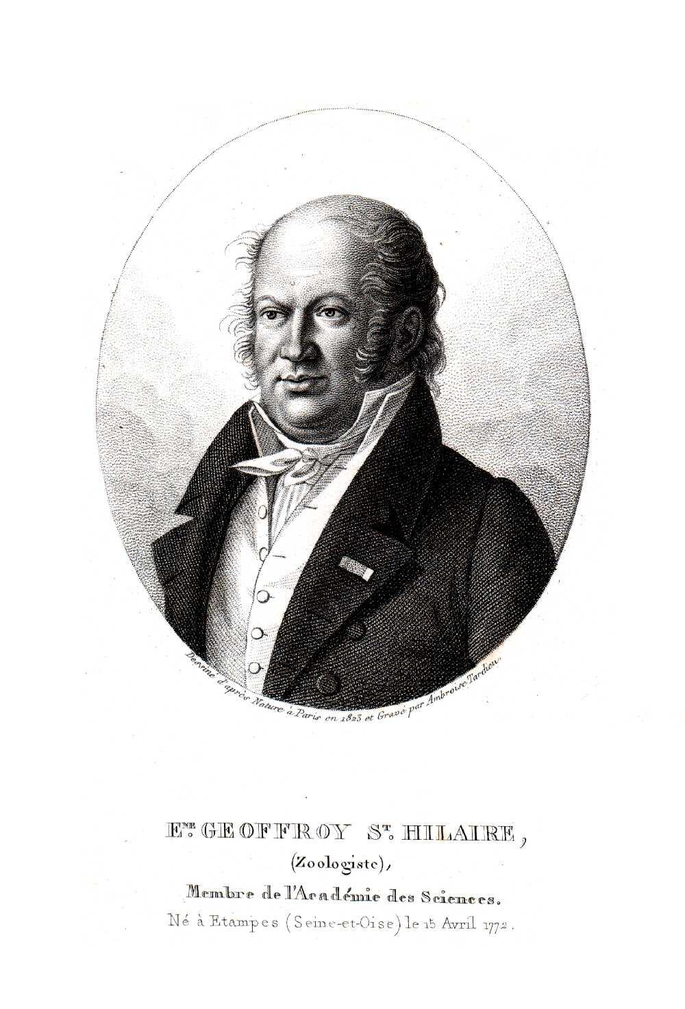 Portrait of Etienne Geoffroy Saint Hilaire,  Image number:SIL14-G002-07a