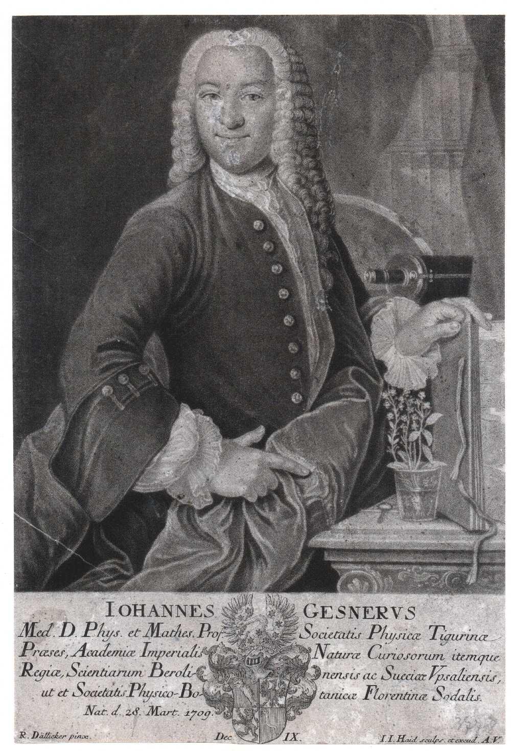 Portrait of Johannes Gesner,  Image number:SIL14-G002-08a
