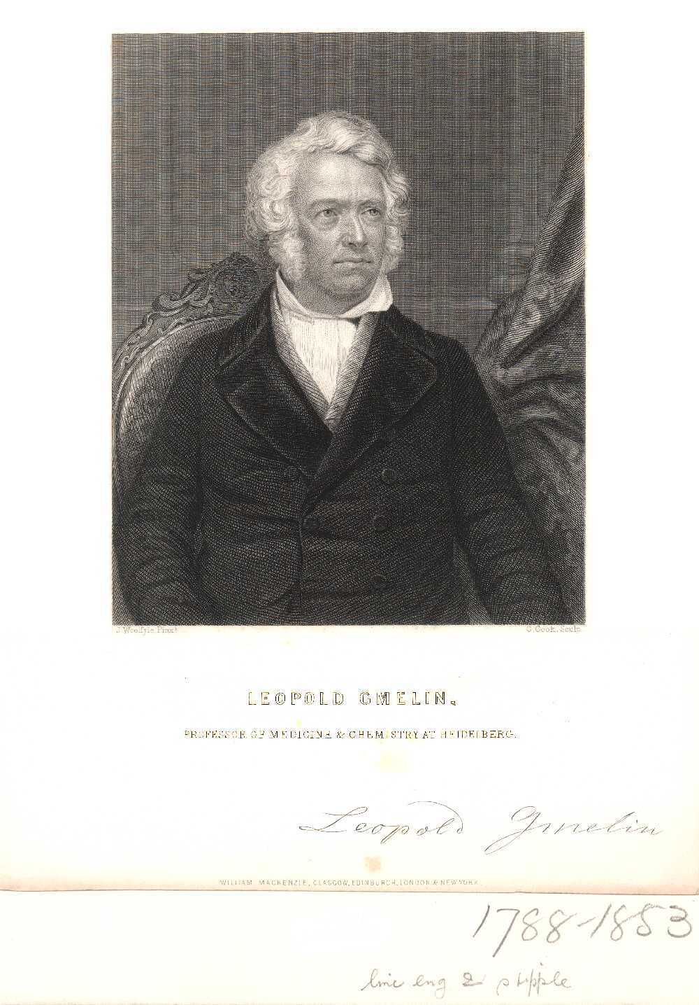 Portrait of Leopold Gmelin,  Image number:SIL14-G003-01a