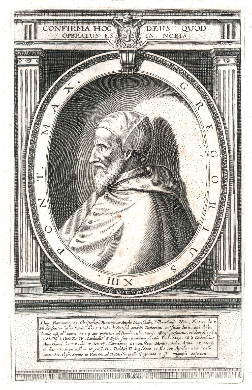 Portrait of Pope Gregory XIII,  Image number:SIL14-G003-05a