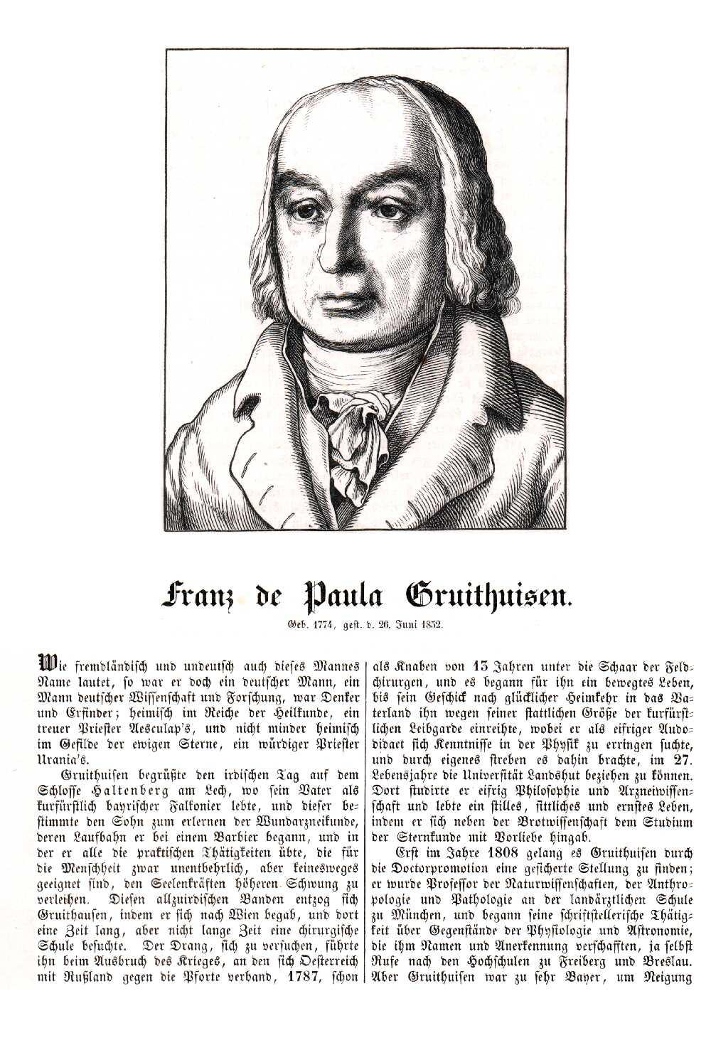 Portrait of Franz Paula von Gruithuisen,  Image number:SIL14-G004-04a
