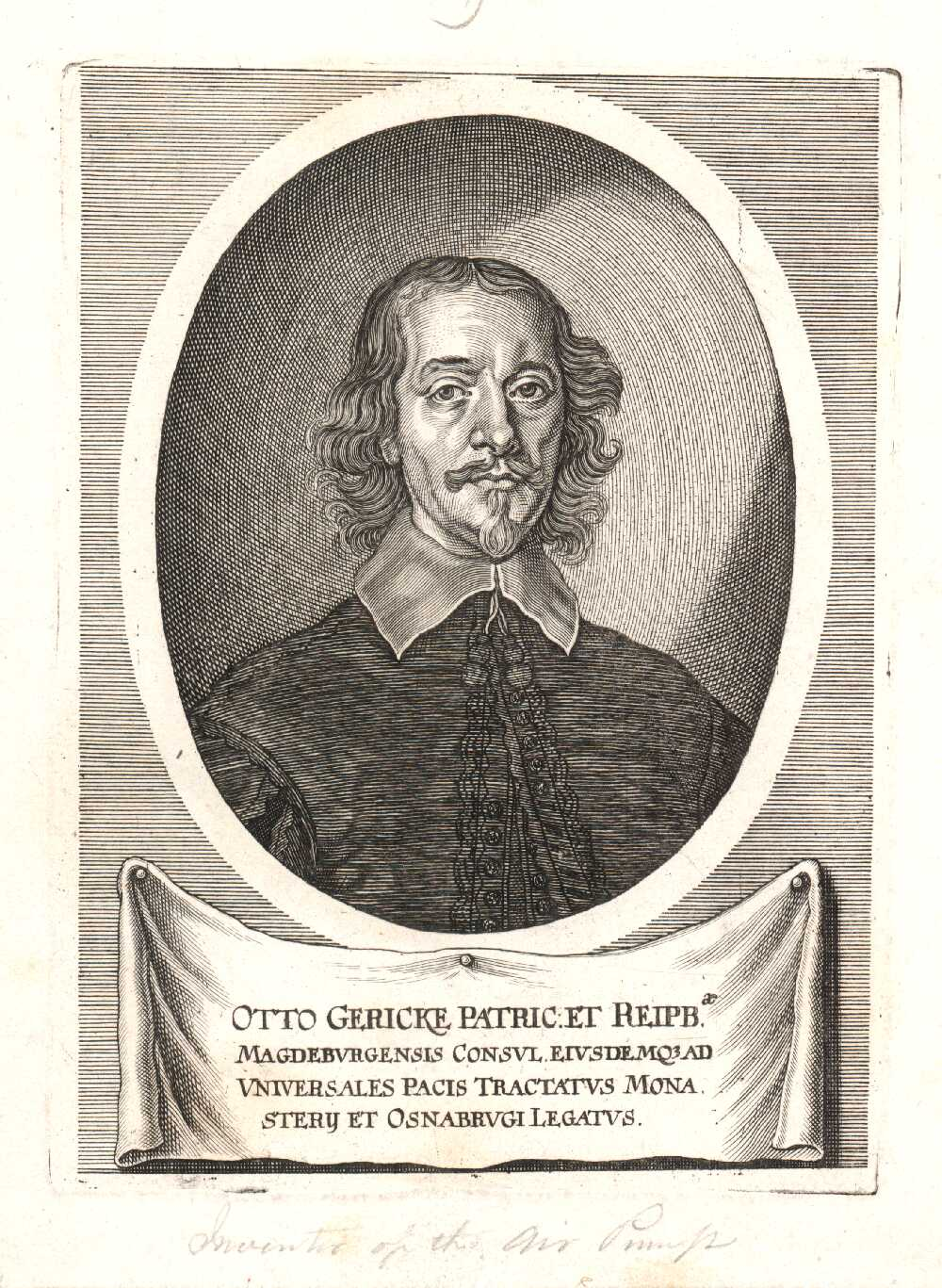 Portrait of Otto von Guericke,  Image number:SIL14-G004-06a
