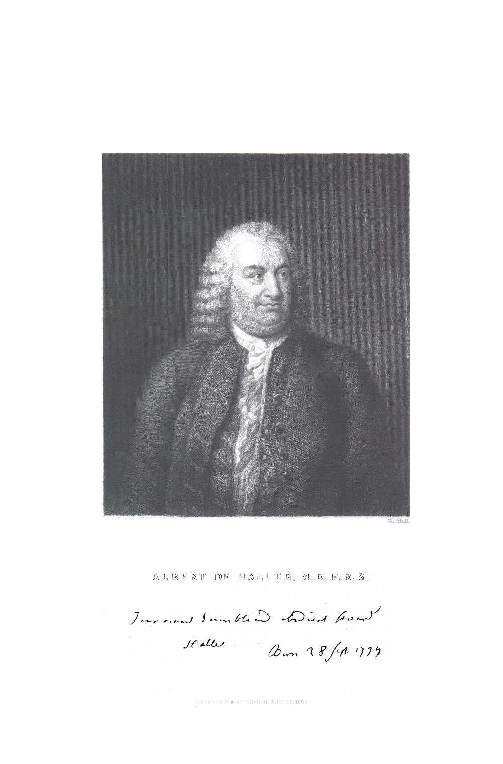 Portrait of Albrecht von Haller,  Image number:SIL14-H002-04a