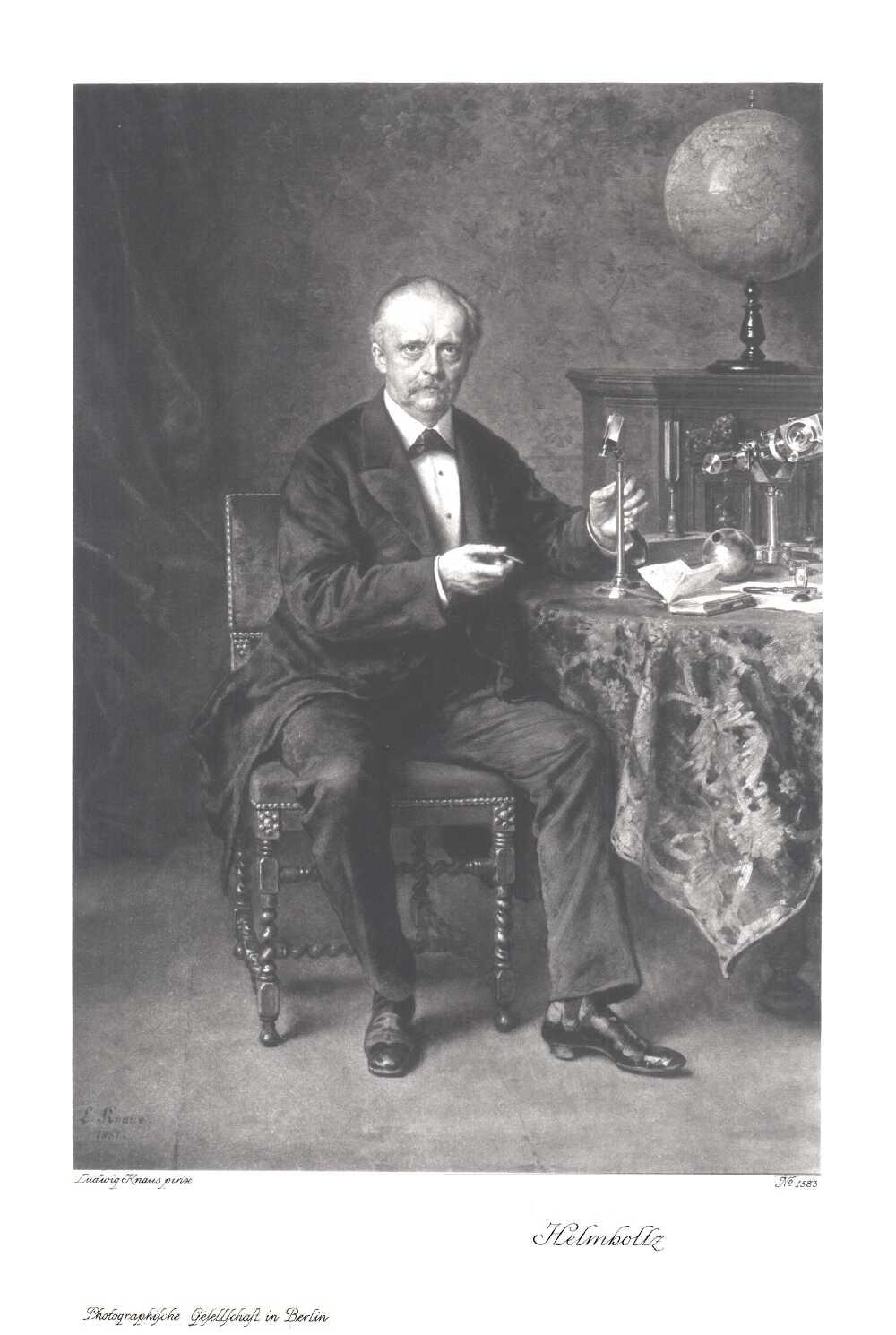 Portrait of Hermann von Helmholtz,  Image number:SIL14-H003-07a