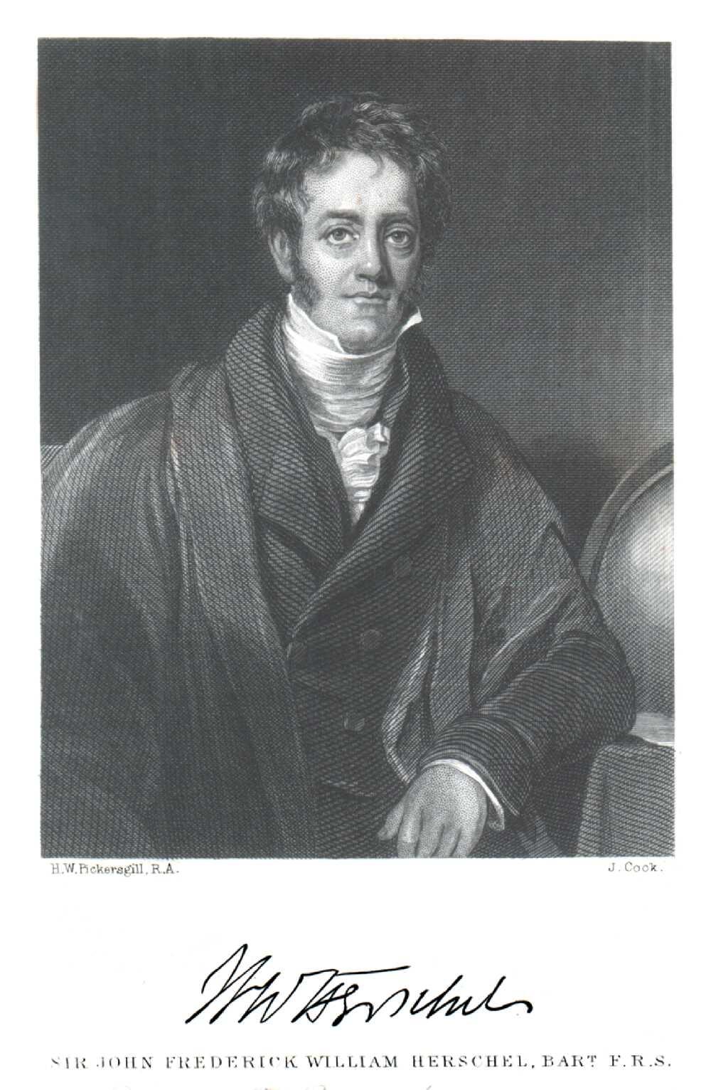 Portrait of John Frederick William Herschel,  Image number:SIL14-H004-06a