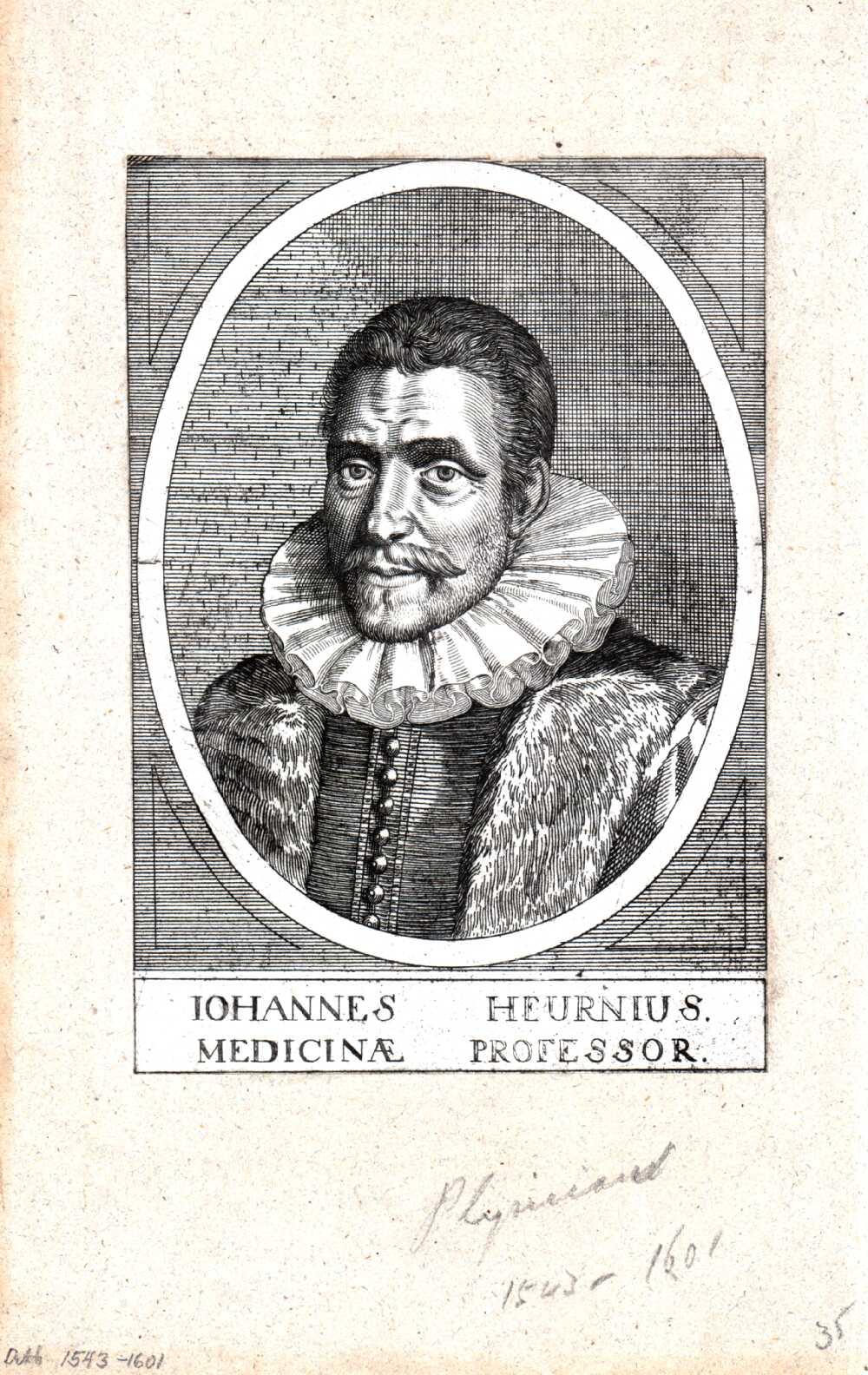 Portrait of Johan van Heurne,  Image number:SIL14-H004-08a