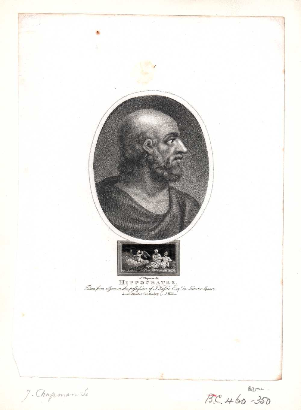 Portrait of Hippocrates,  Image number:SIL14-H004-12a