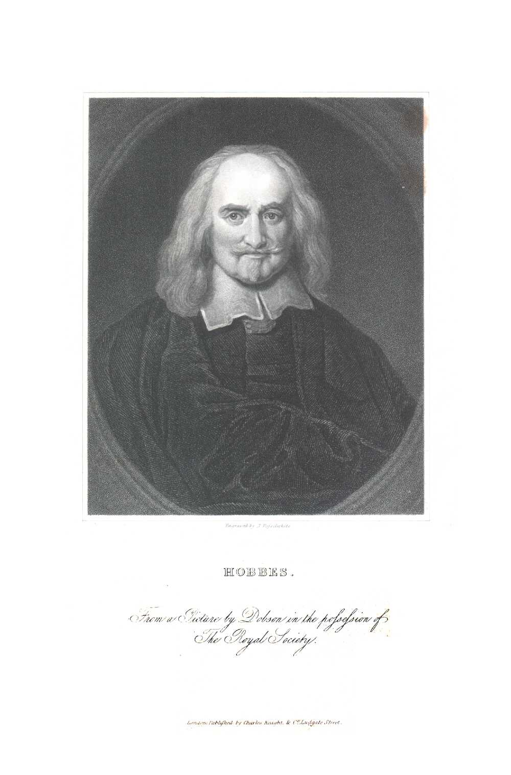 Portrait of Thomas Hobbes,  Image number:SIL14-H005-01a
