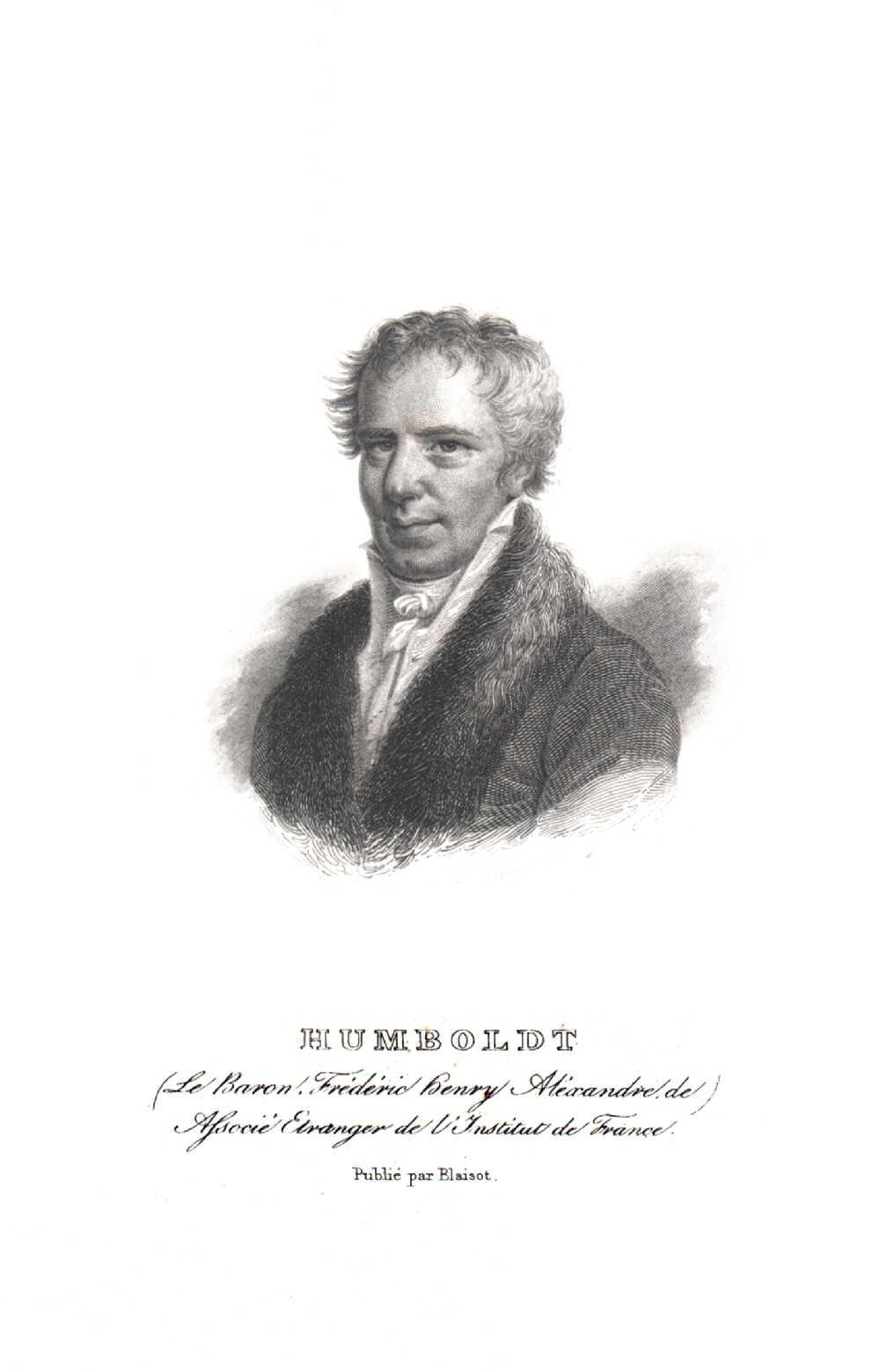 Portrait of Alexander von Humboldt,  Image number:SIL14-H006-05a