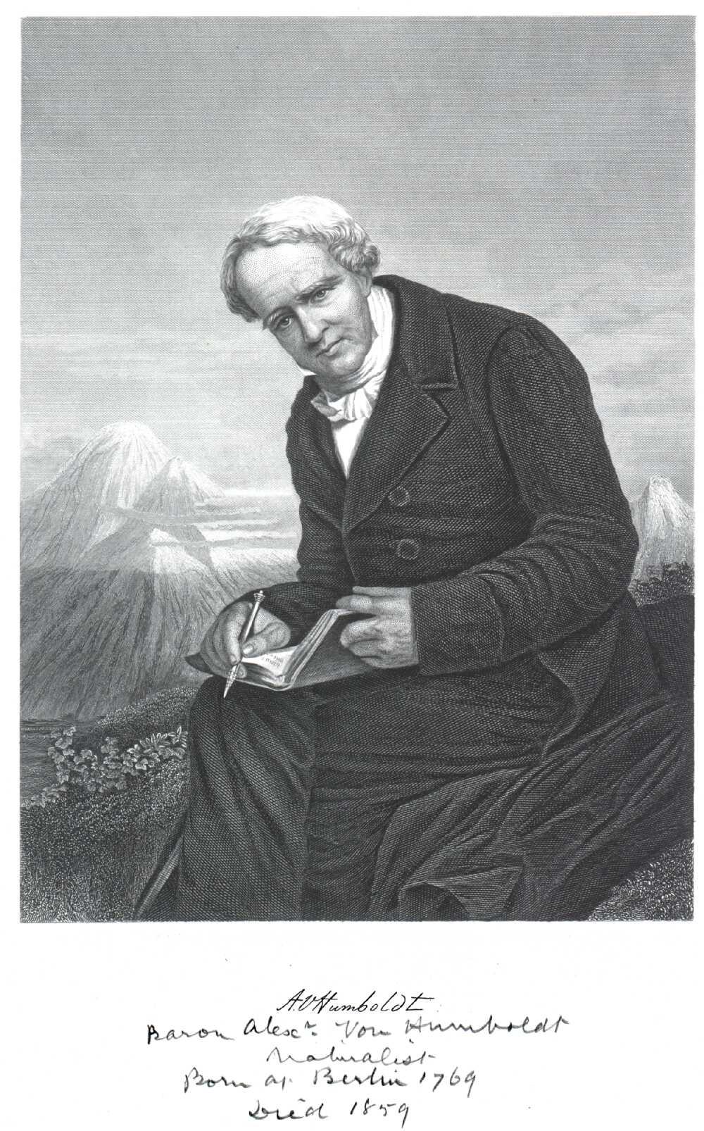 Portrait of Alexander von Humboldt,  Image number:SIL14-H006-07a
