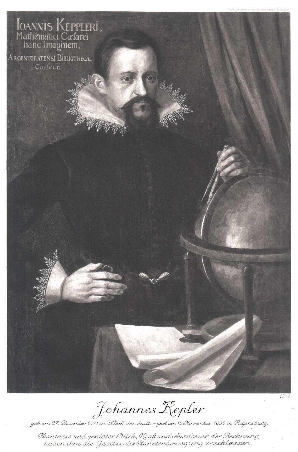 Portrait of Johannes Kepler,  Image number:SIL14-K001-08a
