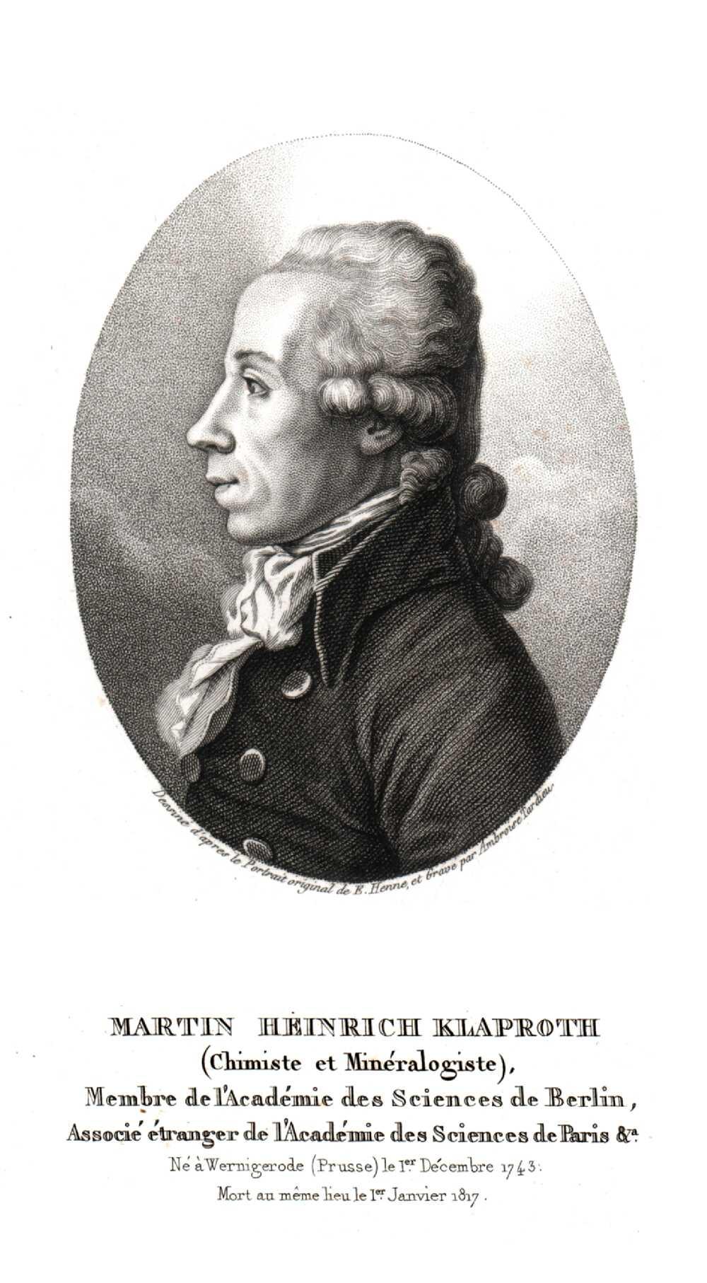 Portrait of Martin Heinrich Klapproth,  Image number:SIL14-K002-06a