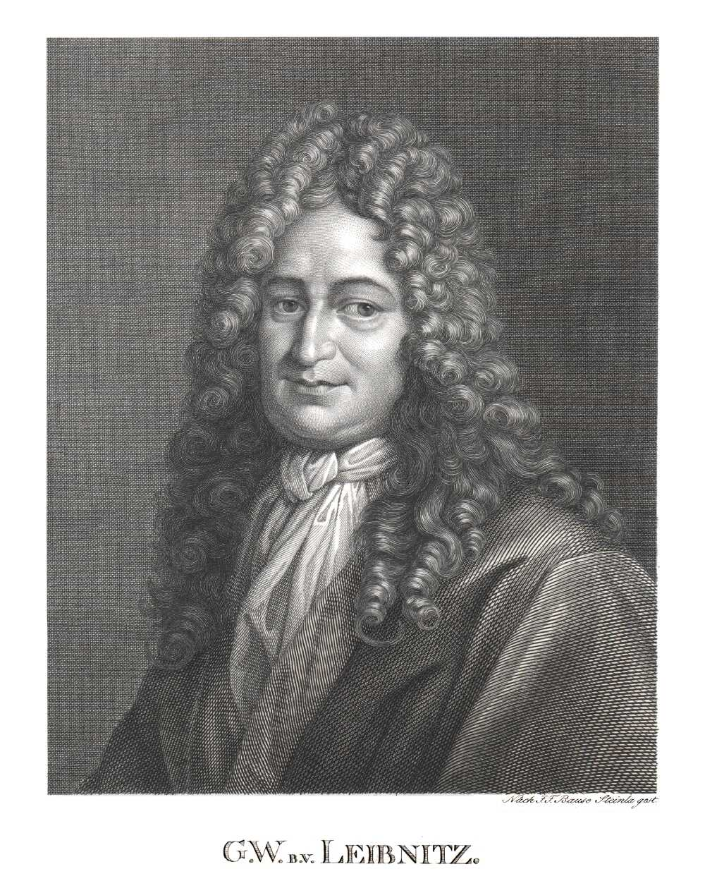 Portrait of Gottfried Wilhelm Leibniz,  Image number:SIL14-L003-08a