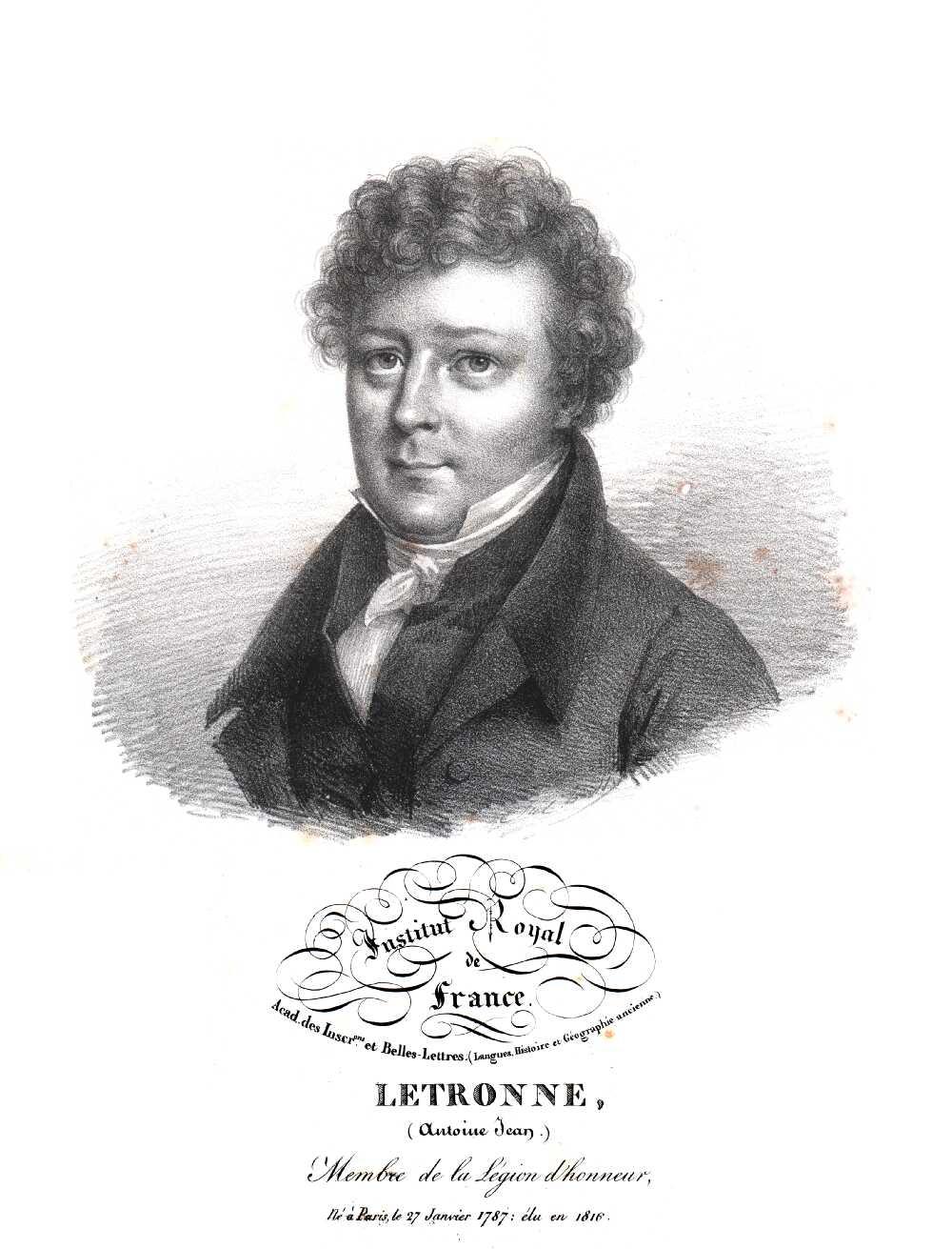 Portrait of Antoine-Jean Letronne,  Image number:SIL14-L003-16a