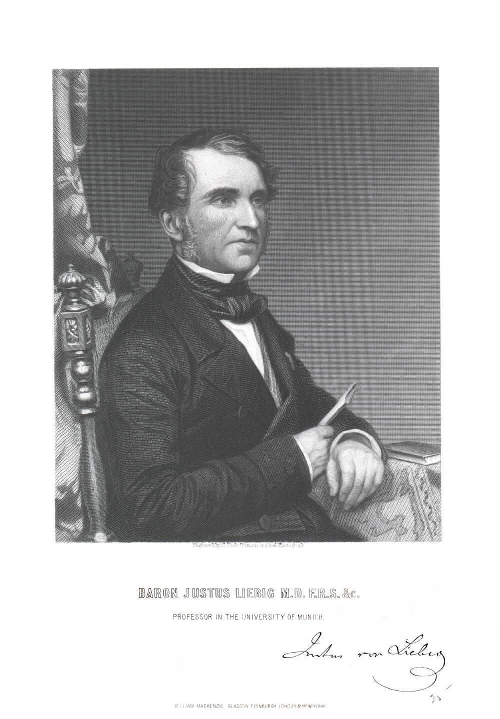 Portrait of Justus Liebig,  Image number:SIL14-L004-04a