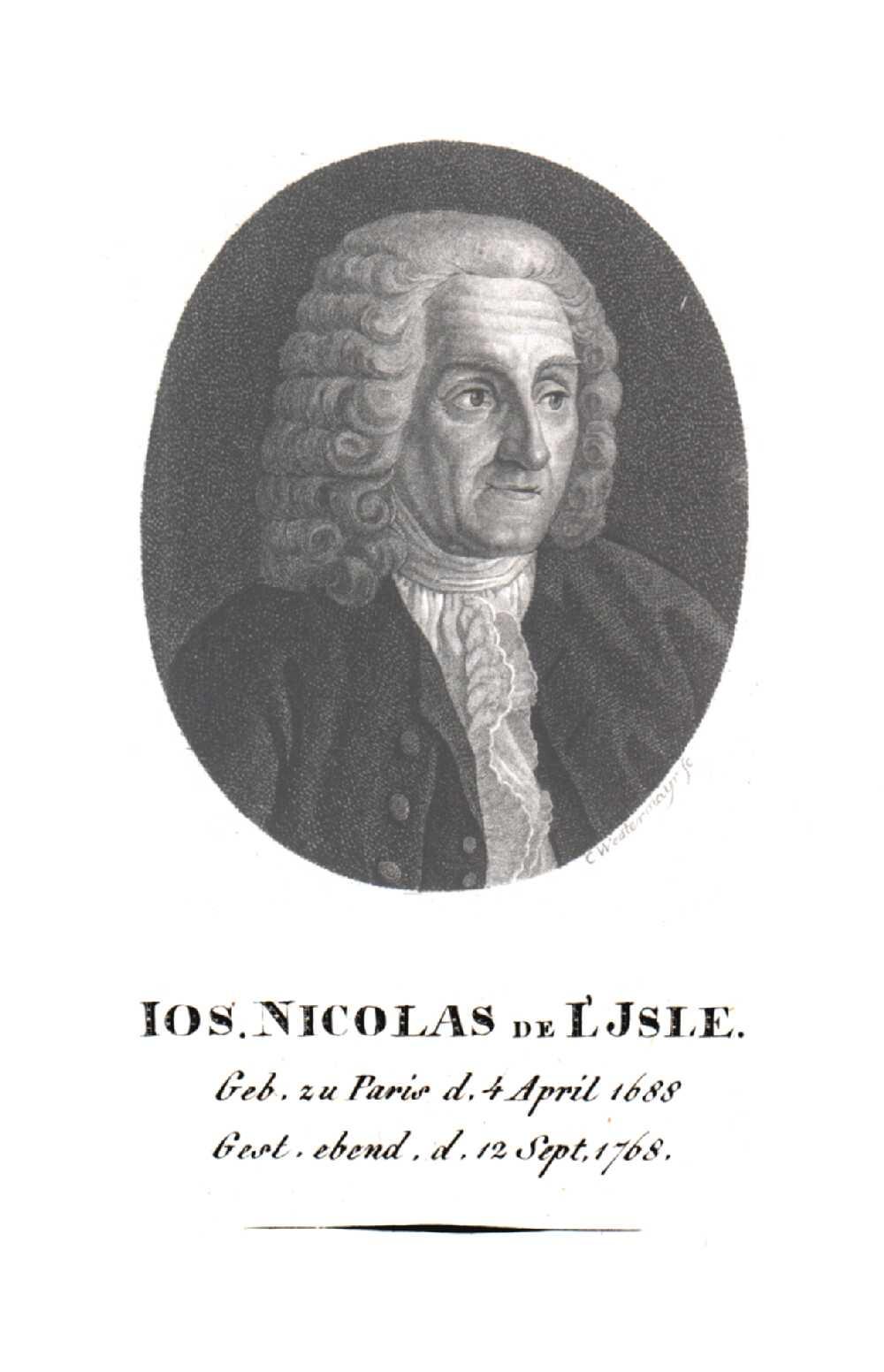 Portrait of Joseph Nicolas de L'Isle,  Image number:SIL14-L005-01a