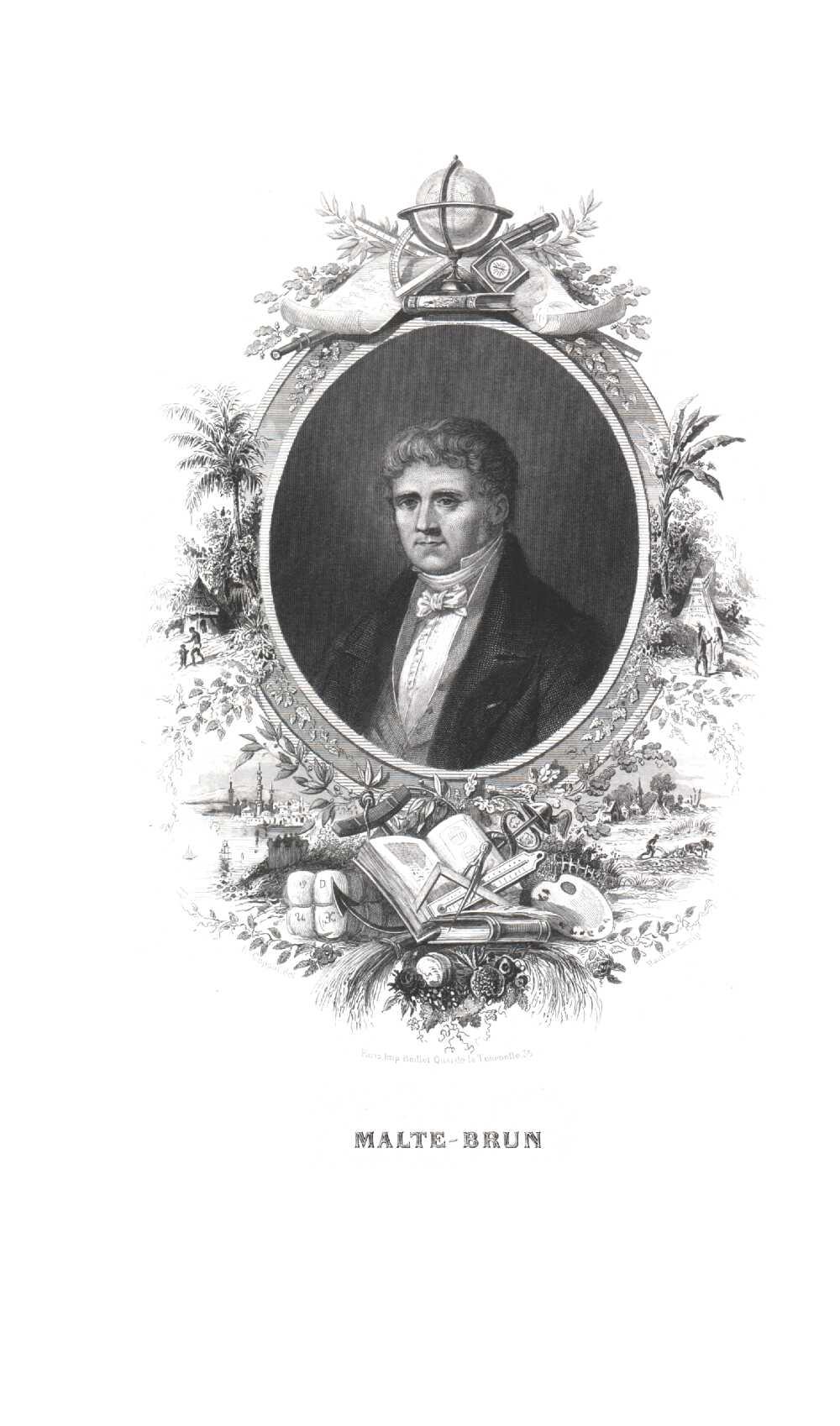 Portrait of Conrad Malte-Brun,  Image number:SIL14-M001-07a