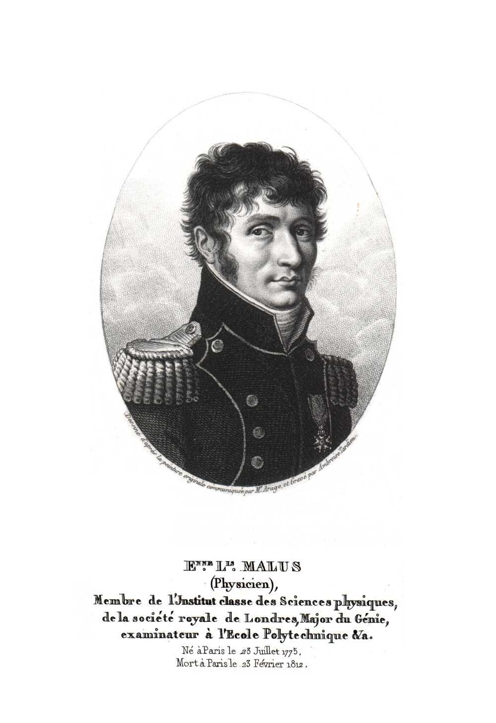 Portrait of Etienne Louis Malus,  Image number:SIL14-M001-08a