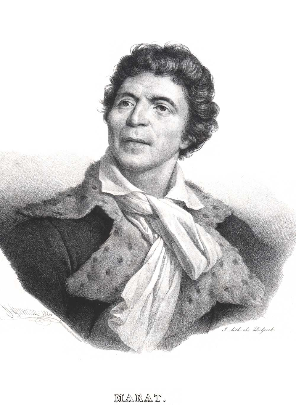 Portrait of Jean Paul Marat,  Image number:SIL14-M001-11a