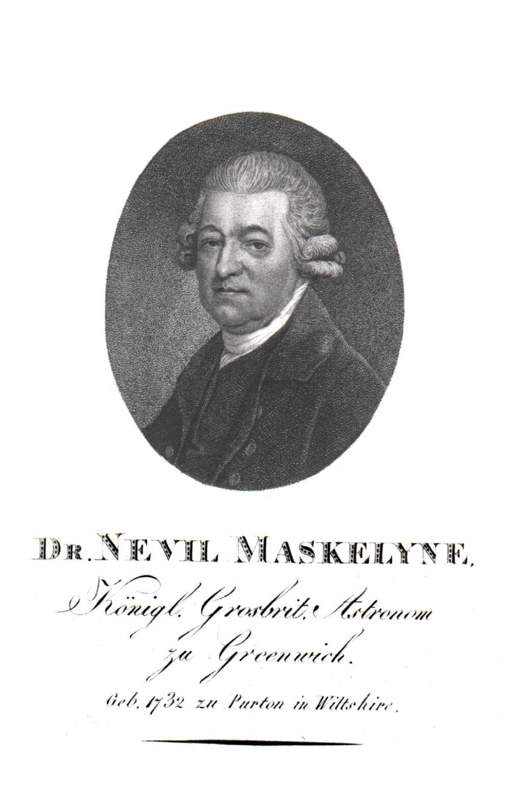 Portrait of Nevil Maskelyne,  Image number:SIL14-M002-04a