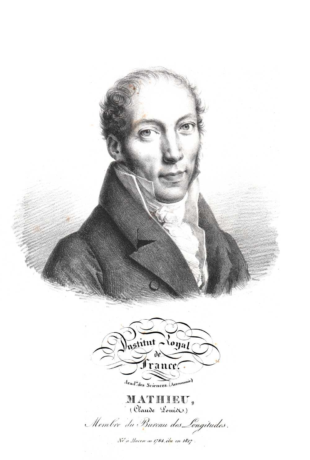 Portrait of Claude Louis Mathieu,  Image number:SIL14-M002-05a