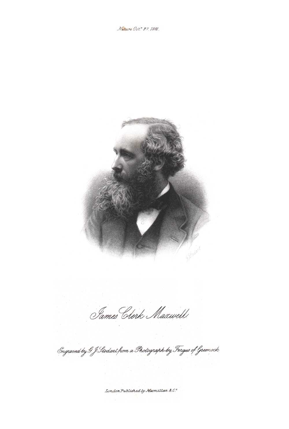 Portrait of James Clerk Maxwell,  Image number:SIL14-M002-12a