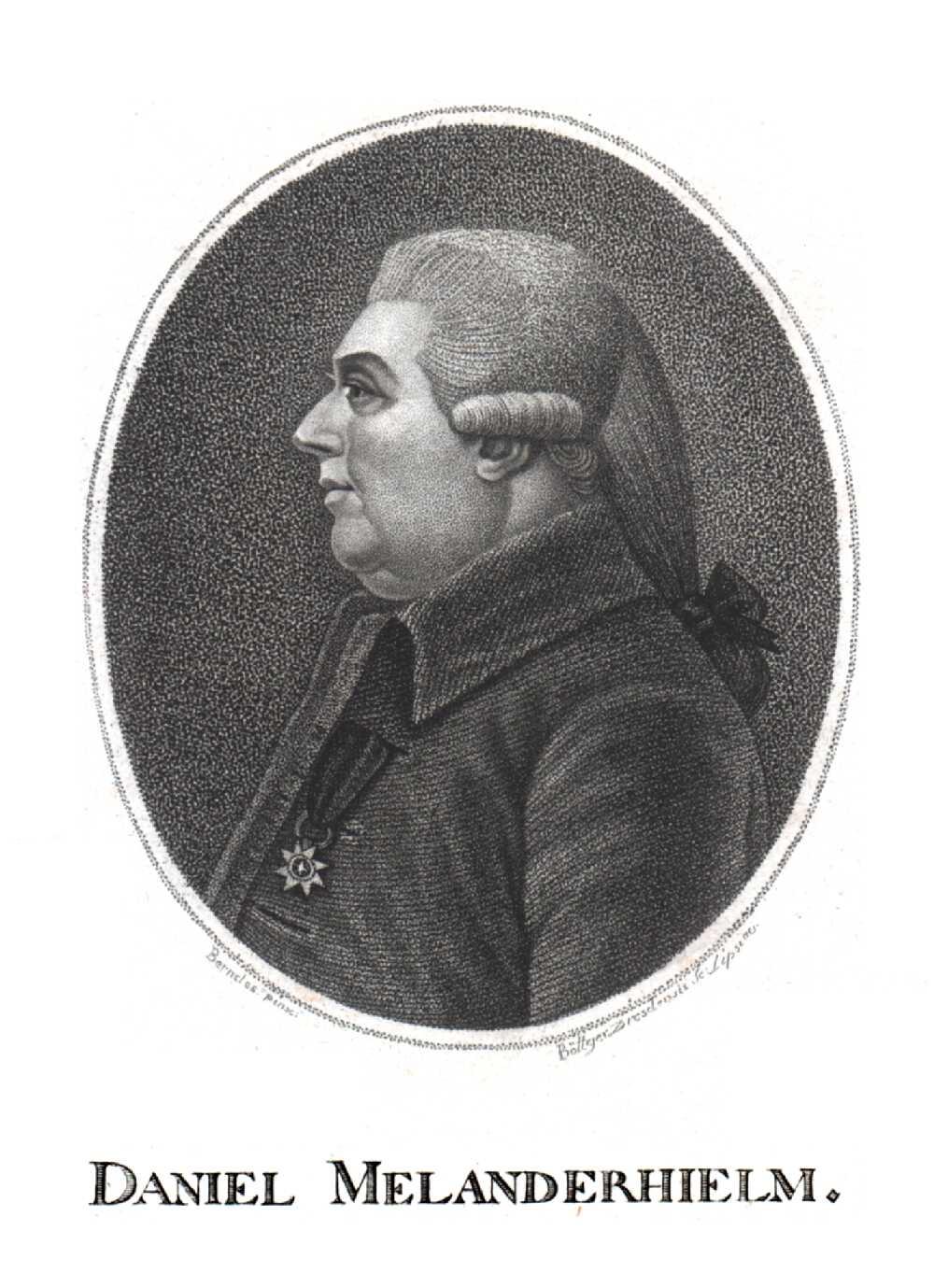 Portrait of Daniel Melanderhjelm,  Image number:SIL14-M003-03a