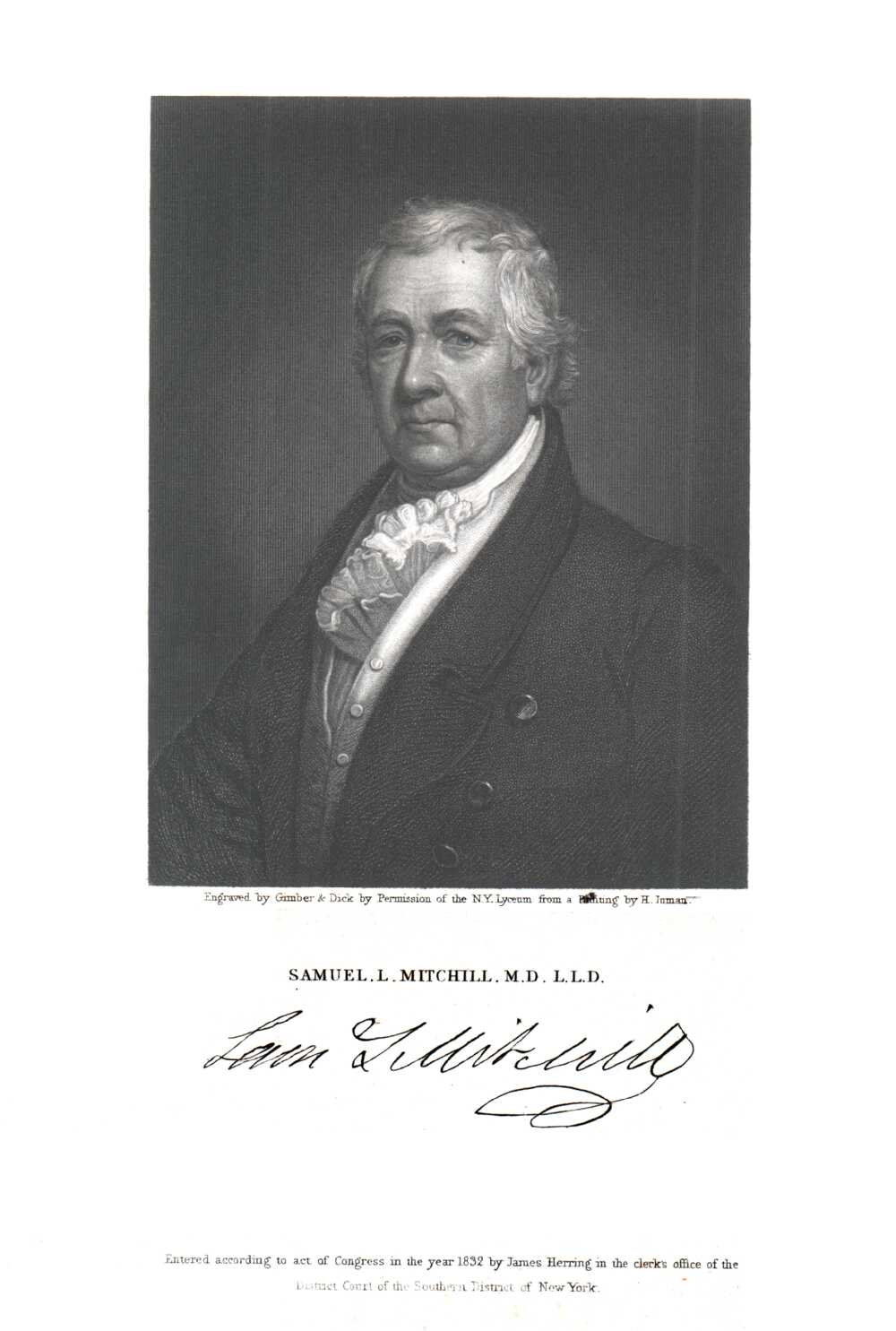 Portrait of Samuel Latham Mitchill,  Image number:SIL14-M004-06a