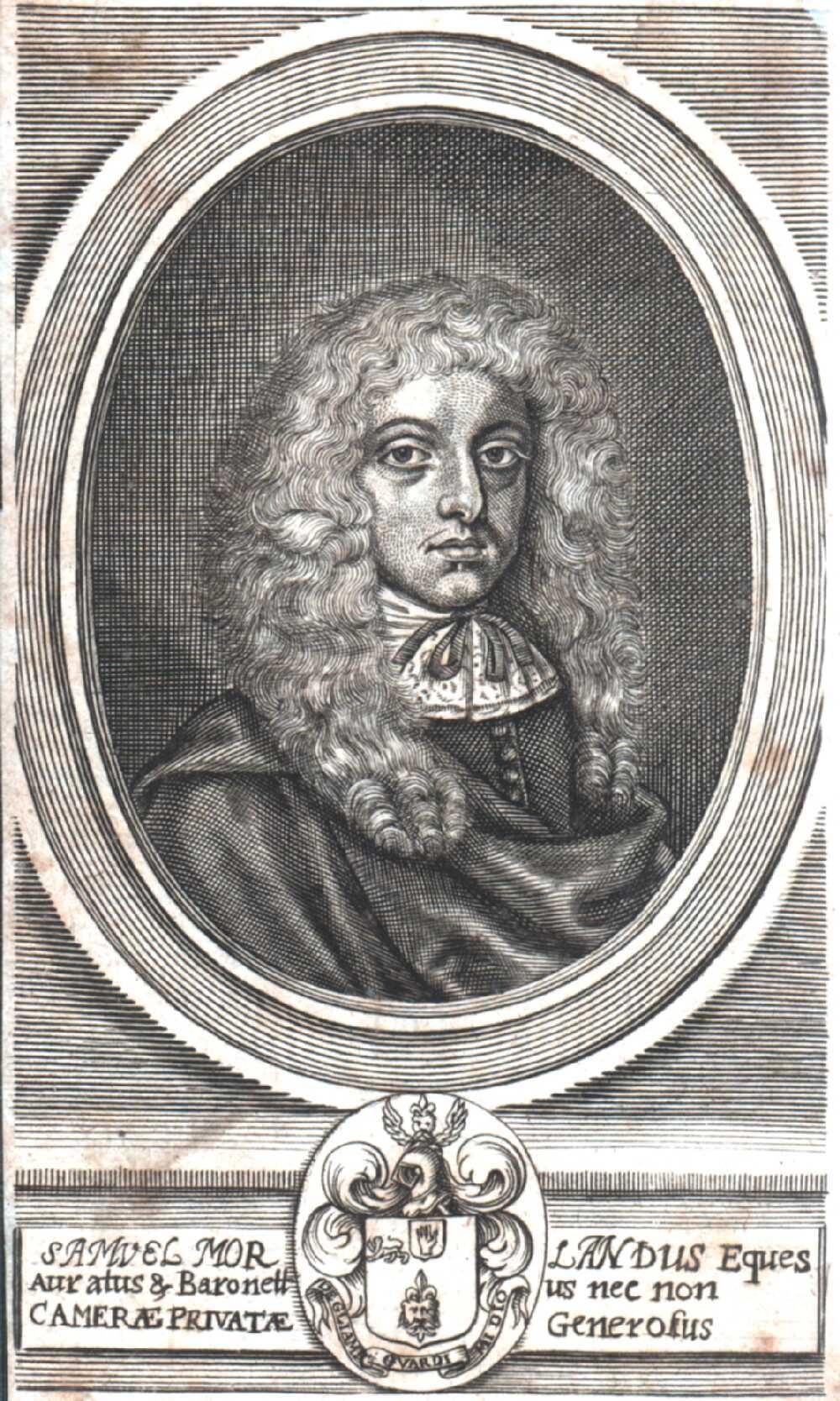 Portrait of Samuel Morland,  Image number:SIL14-M006-03a