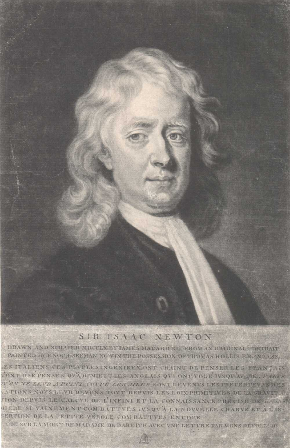 Portrait of Isaac Newton,  Image number:SIL14-N001-14a
