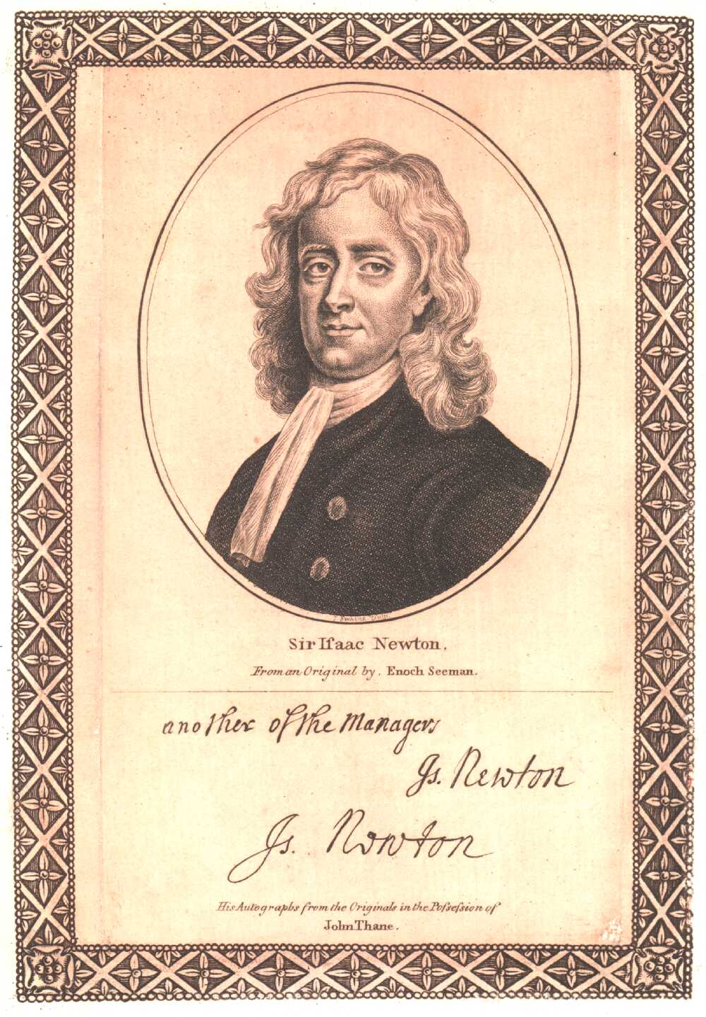 Portrait of Isaac Newton,  Image number:SIL14-N001-16a