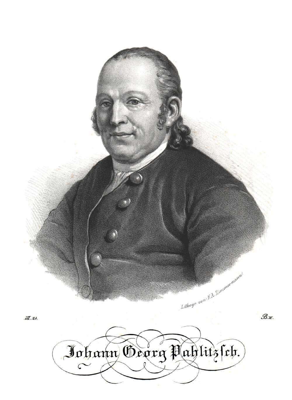 Portrait of Johann Georg Palitzsch (Palizsch),  Image number:SIL14-P001-04a