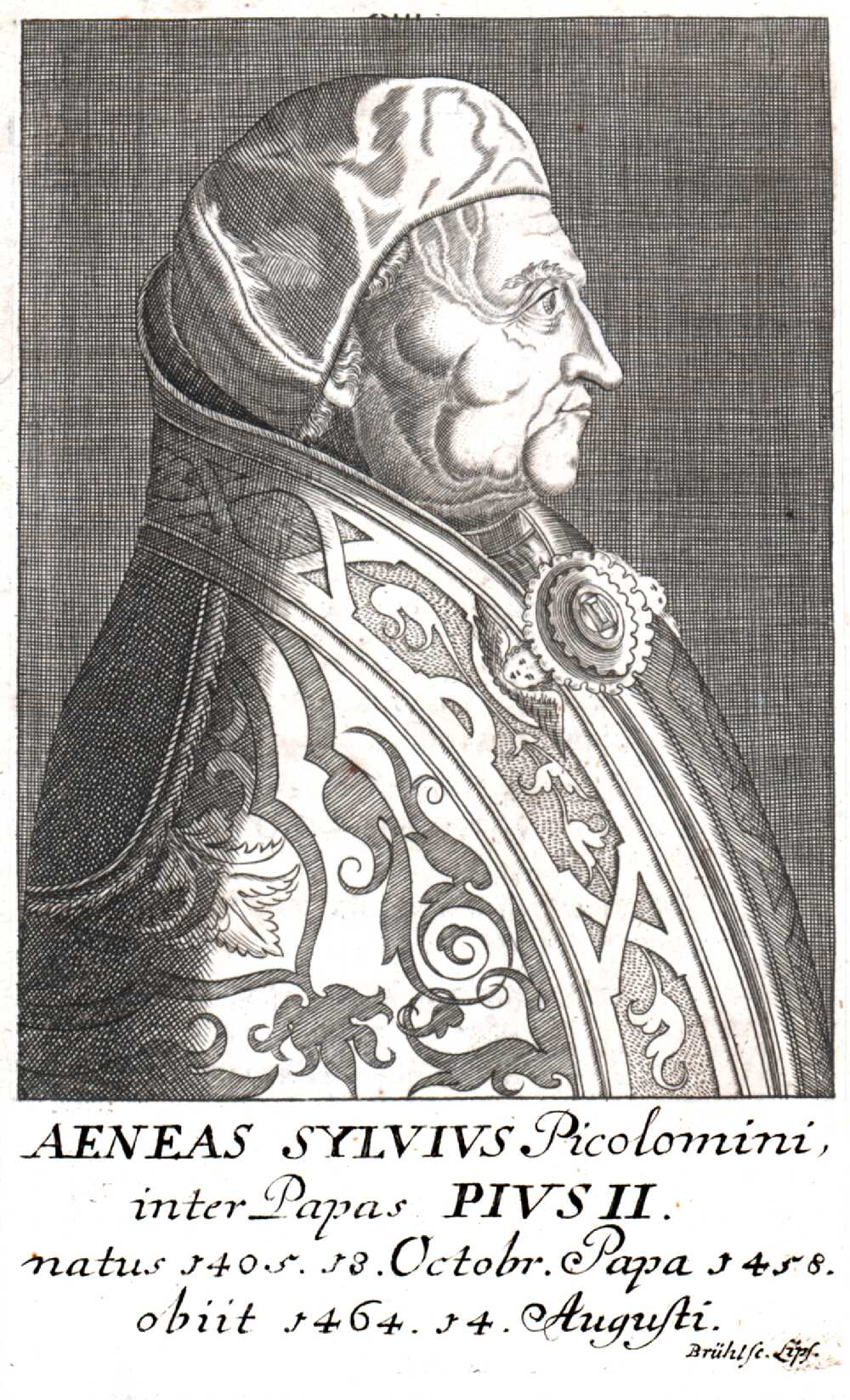 Portrait of Pope Pius II,  Image number:SIL14-P003-09a