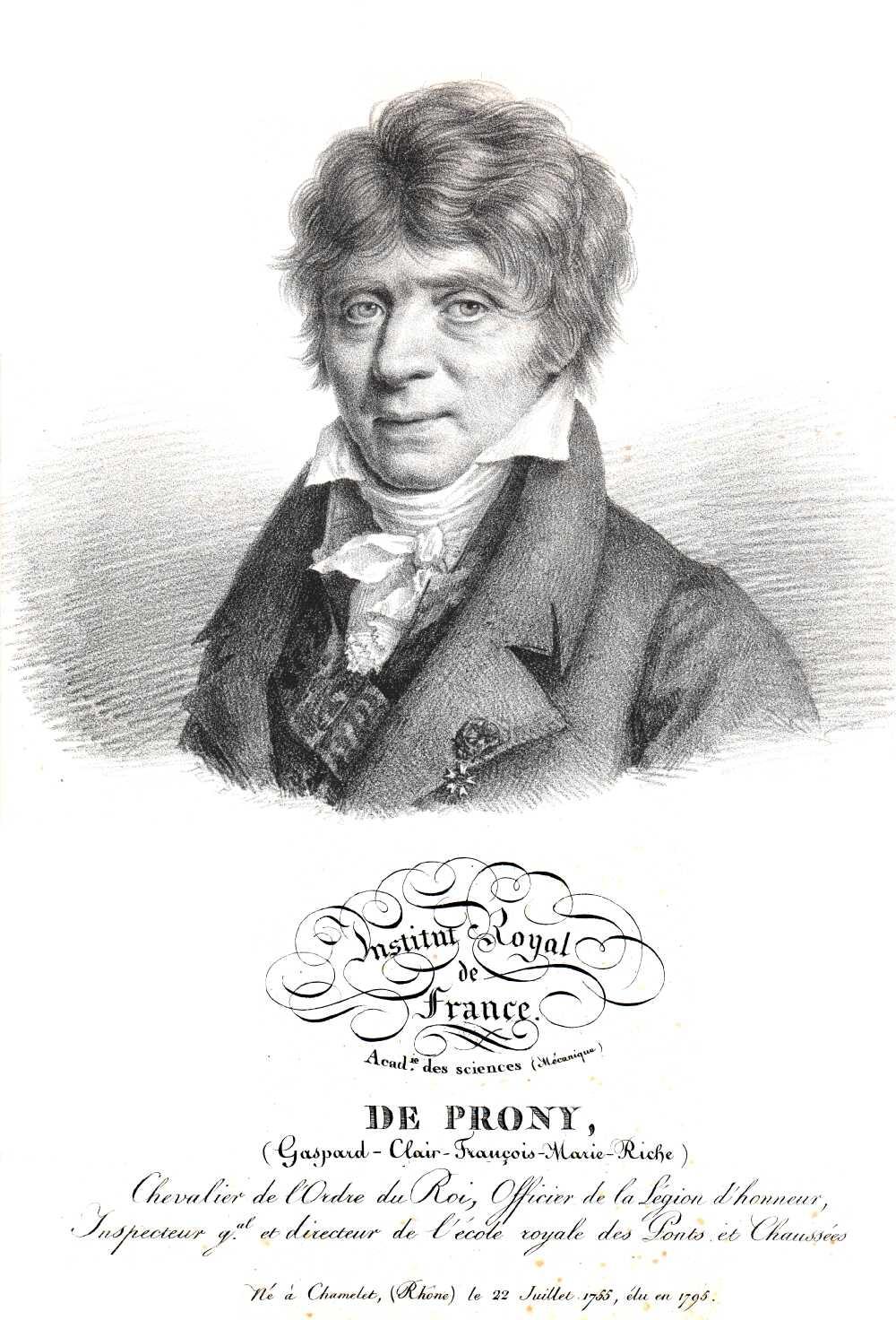 Portrait of Gaspard-François-Clair-Marie Riche, Baron de Prony,  Image number:SIL14-P006-08a