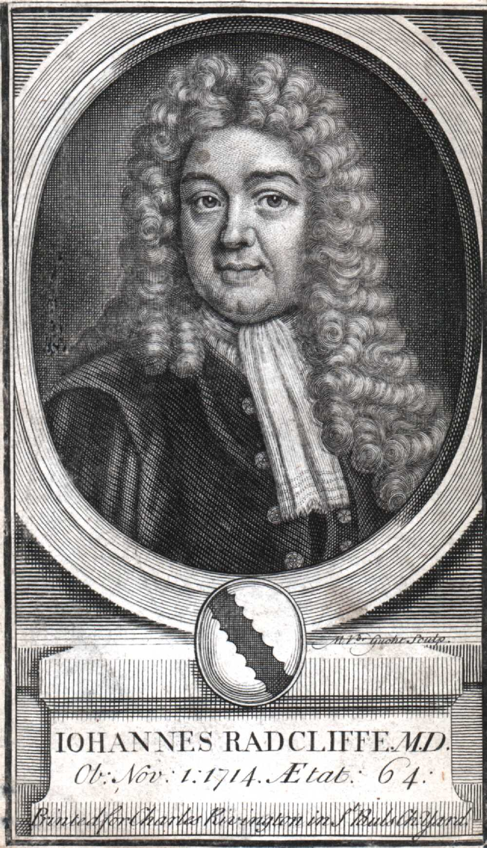 Portrait of John Radcliffe,  Image number:SIL14-R001-01a