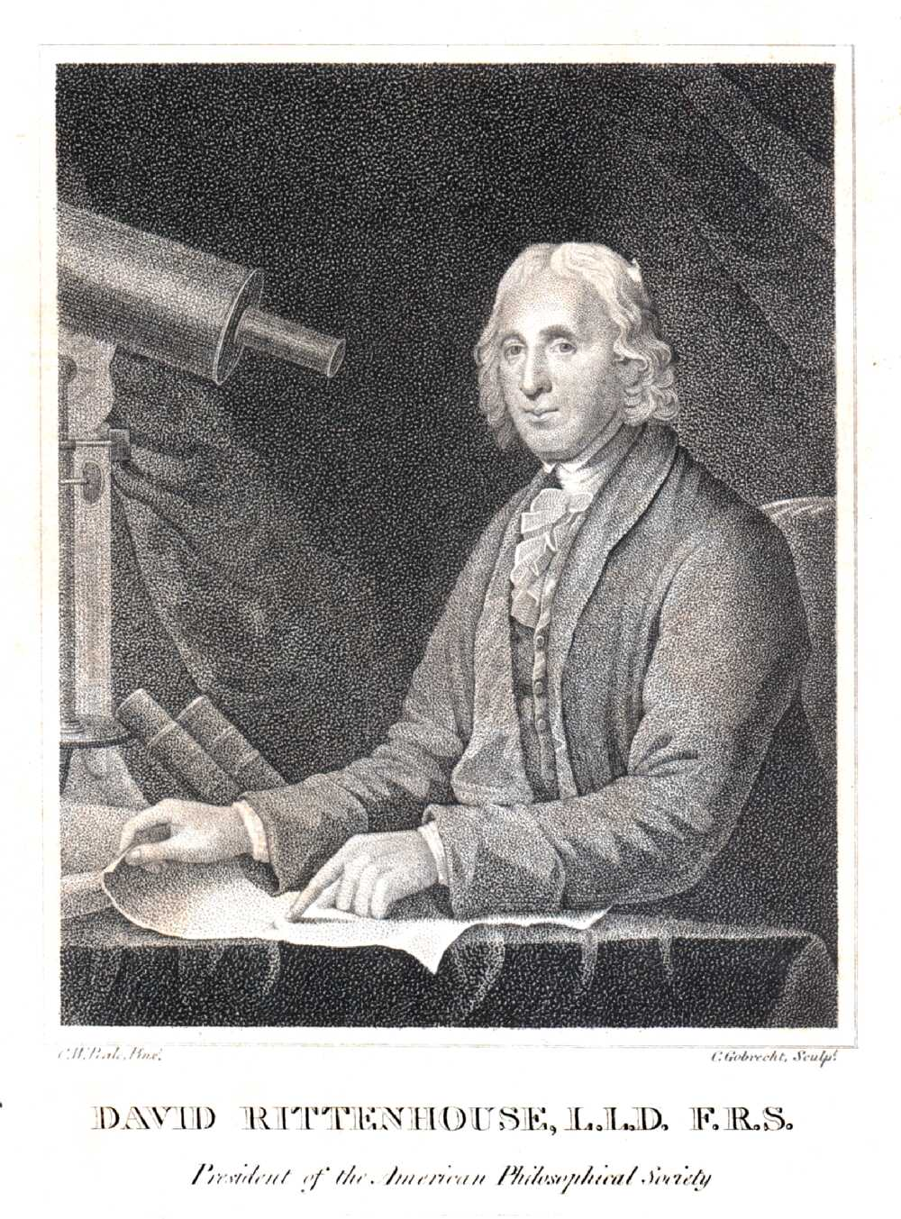 Portrait of David Rittenhouse,  Image number:SIL14-R003-04a