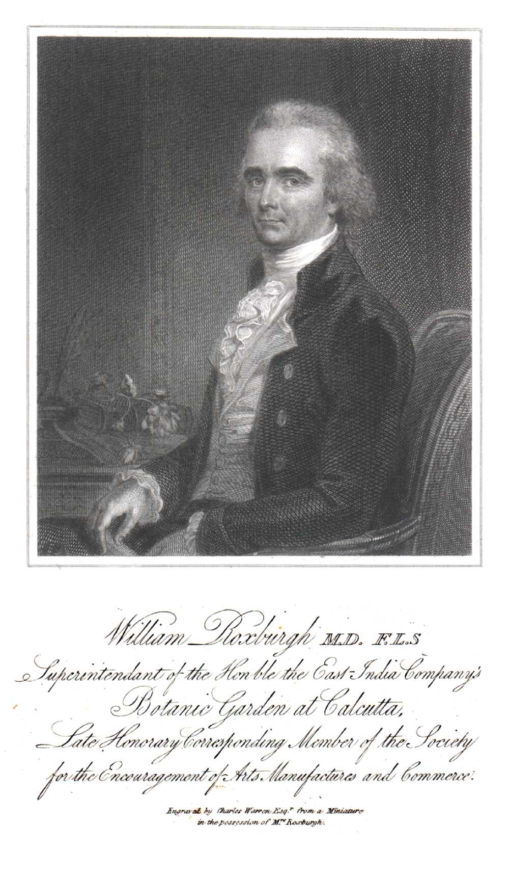 Portrait of William Roxburgh,  Image number:SIL14-R003-13a