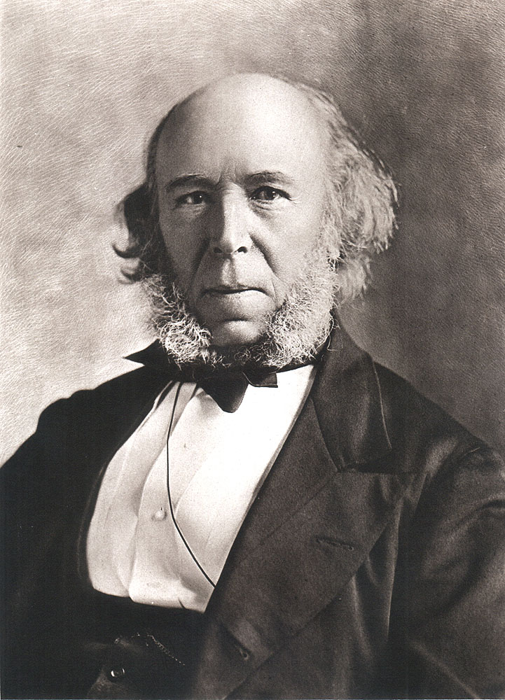 Portrait of Herbert Spencer,  Image number:SIL14-S005-09a
