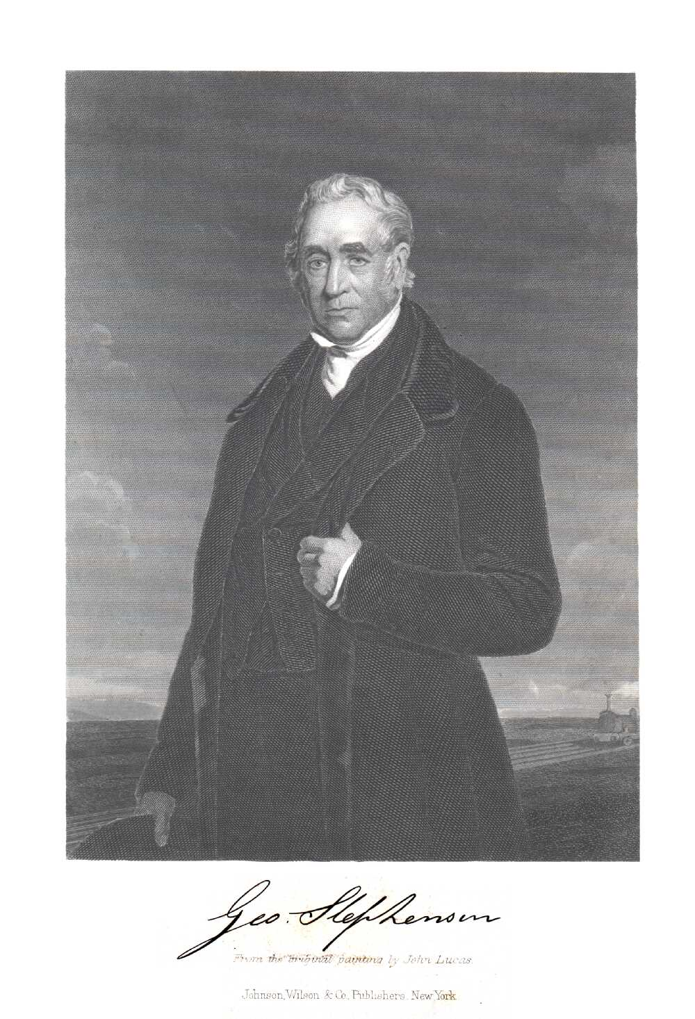 Portrait of George Stephenson,  Image number:SIL14-S006-08a