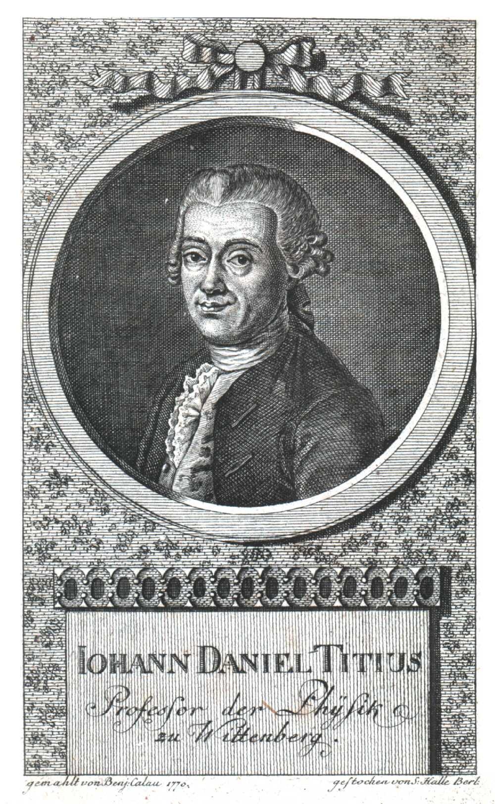 Portrait of Johann Daniel Titius,  Image number:SIL14-T003-02a