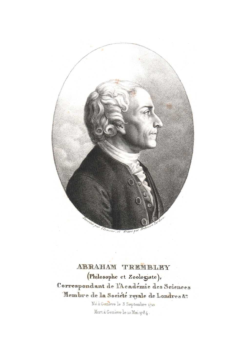 Portrait of Abraham Trembley,  Image number:SIL14-T003-04a