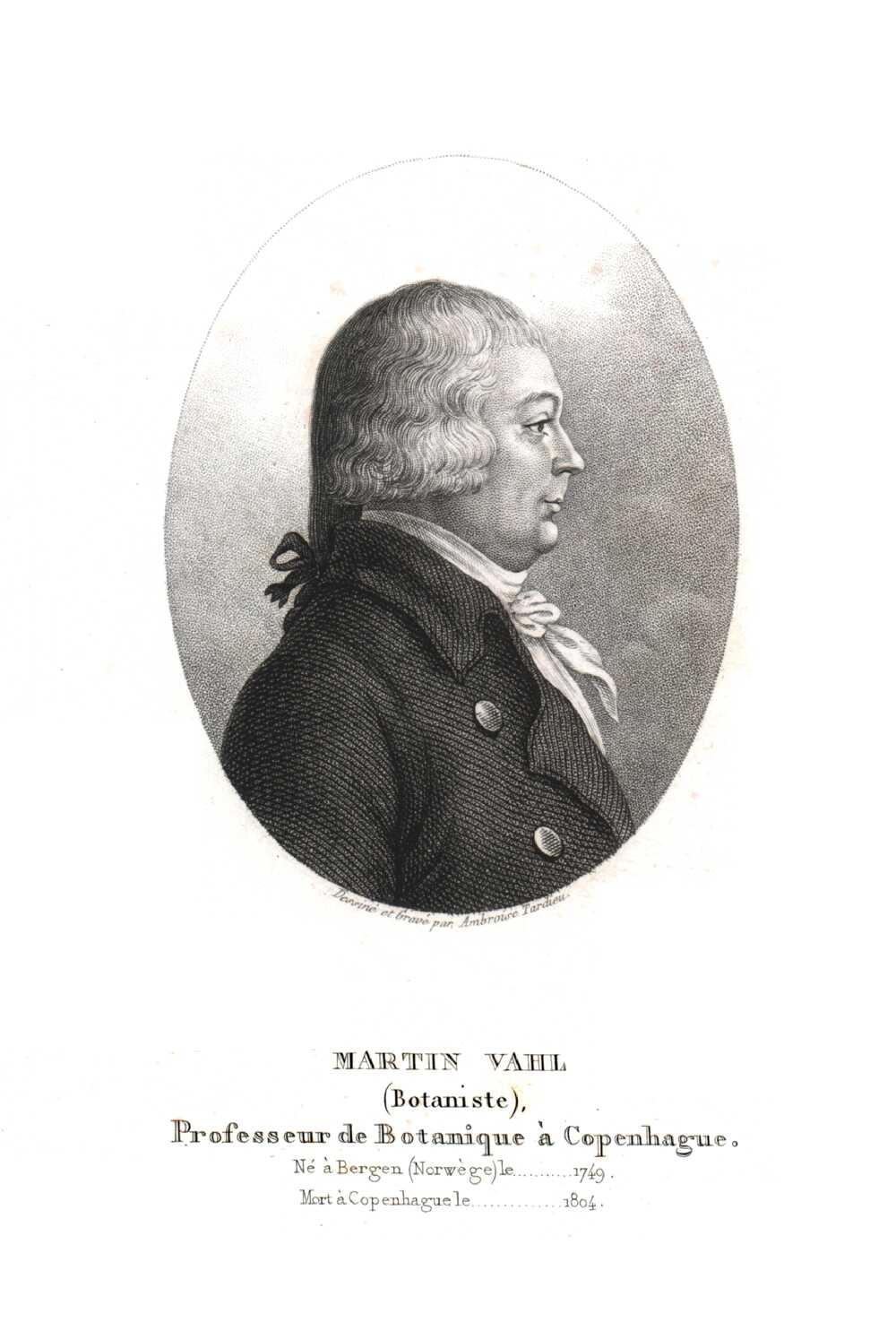 Portrait of Martin Vahl,  Image number:SIL14-V001-01a