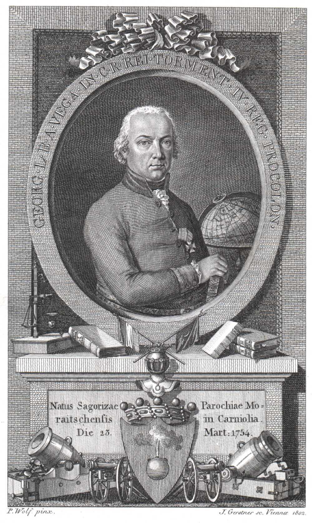 Portrait of Georg, Freiherr von Vega,  Image number:SIL14-V002-01a