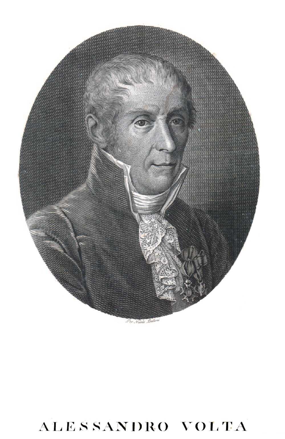 Portrait of Alessandro Volta,  Image number:SIL14-V003-02a