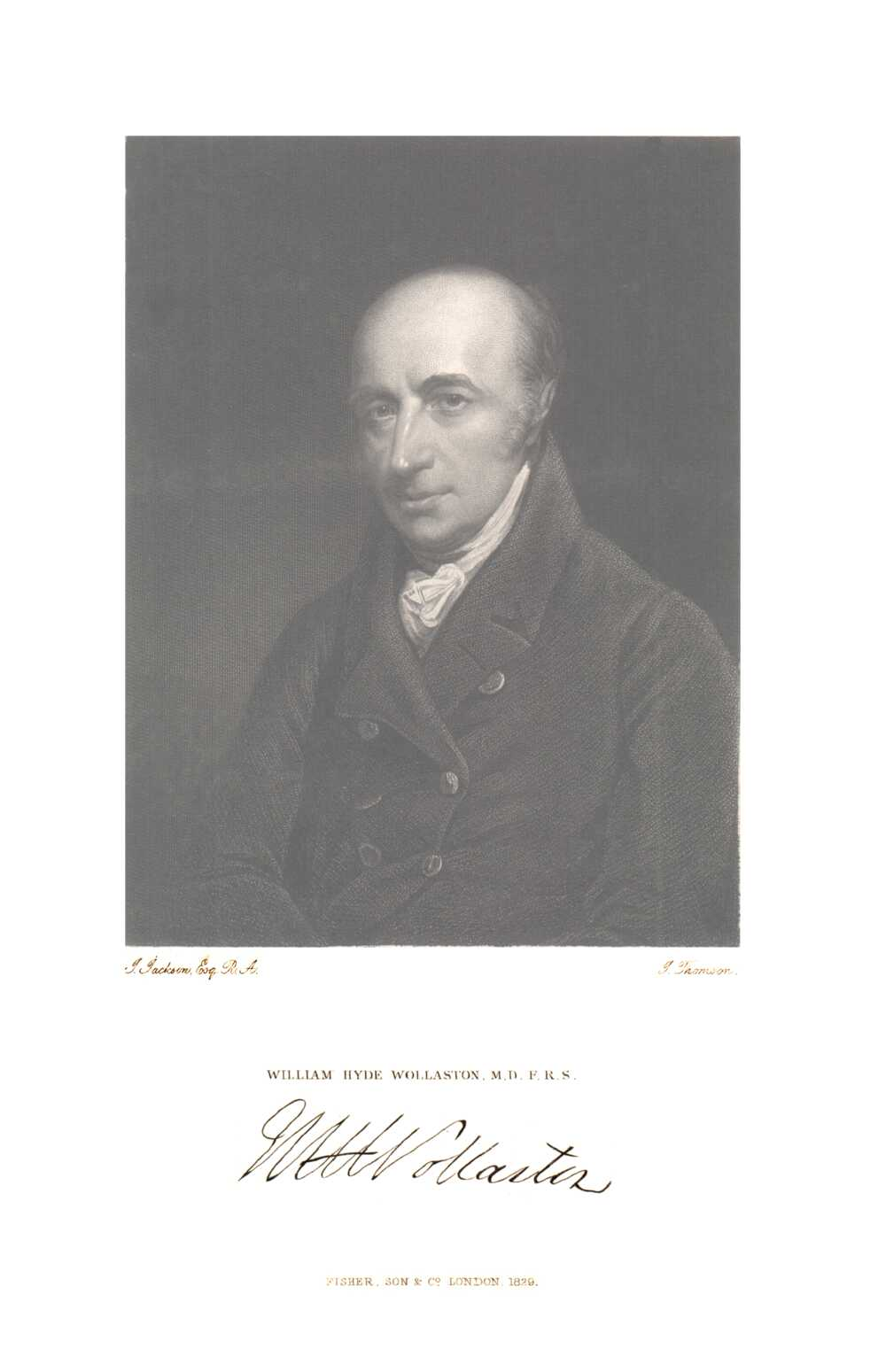 Portrait of William Hyde Wollaston,  Image number:SIL14-W005-05a